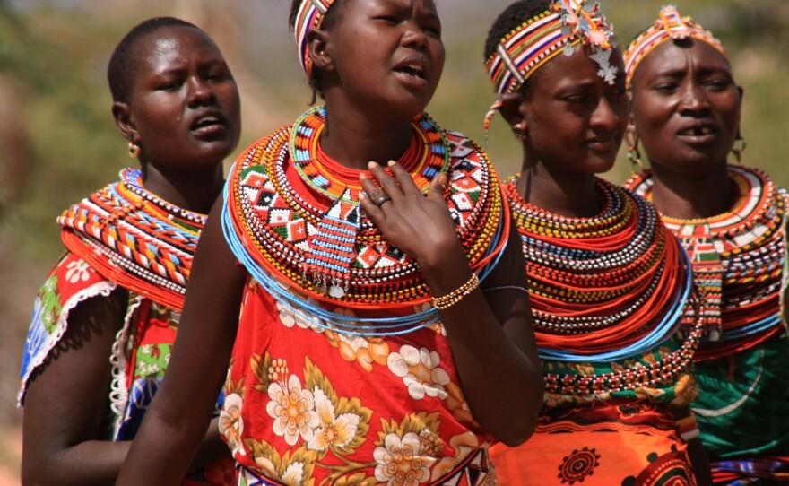 Samburu women singing in Umoja Uaso Village, Kenya, 200s. Empowering Women: Artisan Cooperatives That Transform Lives