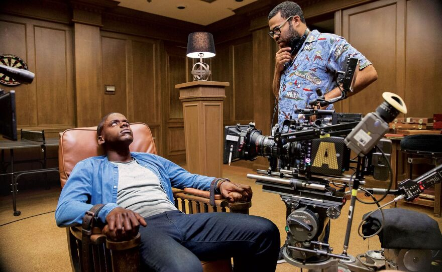 """Jordan Peel on the set of """"Get Out,"""" his feature writing and directing debut."""