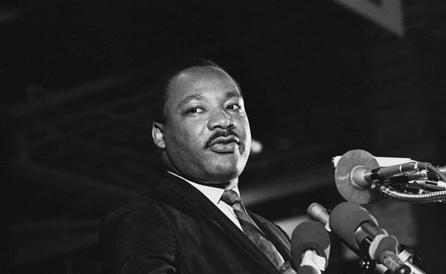 One of the last pictures taken of Dr. Martin Luther King, Jr.