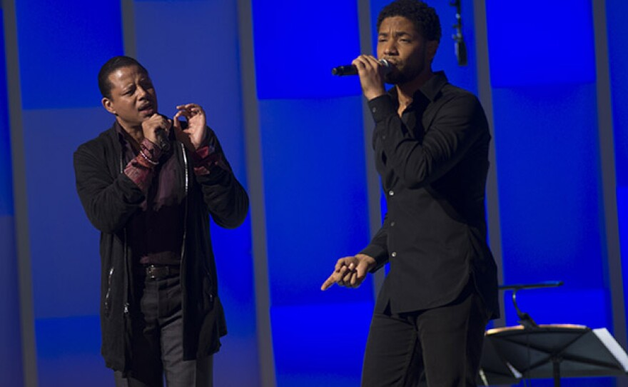 """Terrence Howard and Jussie Smollett perform in GREAT PERFORMANCES """"Chicago Voices."""""""