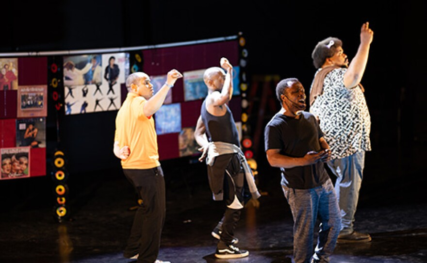 """The cast of """"Get On Board"""" during production. The performance streams online as part of Say It Loud Juneteenth Festival, now through June 19, 2021."""