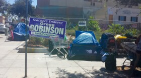 Tents in San Diego's East Village, Aug. 16, 2016