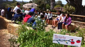 Students learn about gardening at Olivewood Gardens and Learning Center in National City on May 16, 2011.