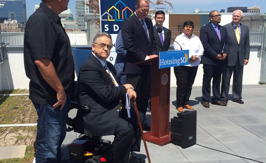 """San Diego housing officials unveil phase two of the city's """"Housing First"""" plan, July 5th, 2017"""
