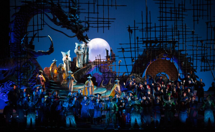 """San Diego Opera's new production of """"Turandot"""" captures the epic scale of Puccini's work."""