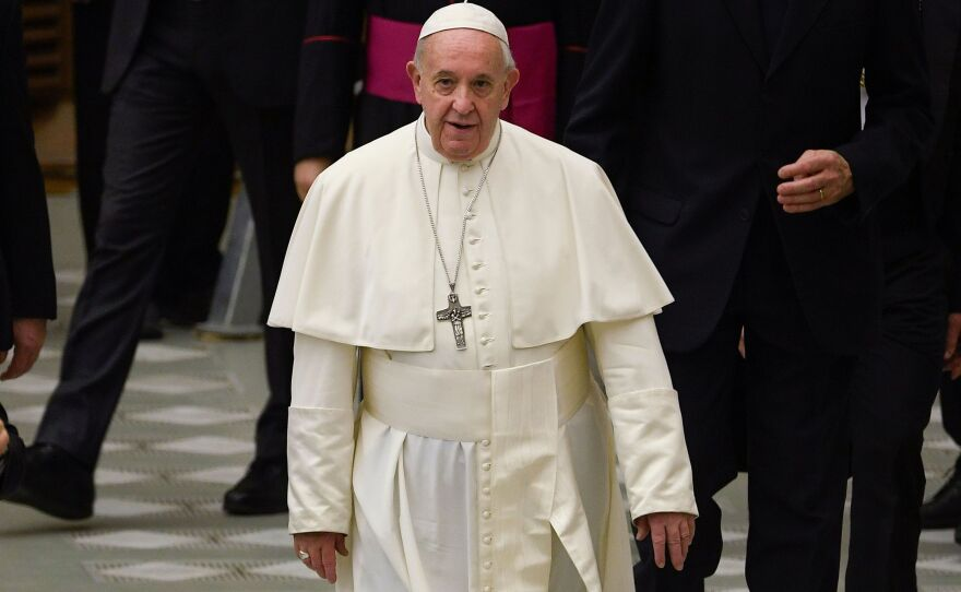 """Pope Francis says married male deacons and women can """"regularly assume important responsibilities"""" for the Catholic Church in the Amazon region, but he turned down bishops' request to allow those deacons to become priests and women to become deacons."""