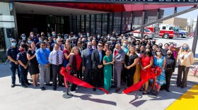 Students and Faculty celebrate the opening of the new 29.1 million dollar Public Safety Training Center. It will be a hub for educating the next generation of first responders, Sept. 10, 2021.