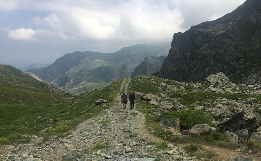 The climb to the Col de la Traversette, the alleged route of Hannibal's crossing.