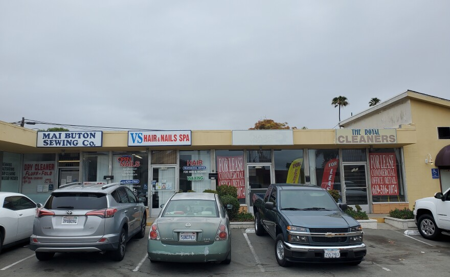 Businesses near the intersection of 13th Street and Imperial Beach Boulevard in Imperial Beach, April 26, 2021.