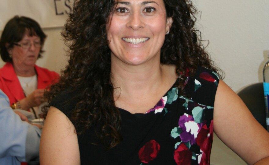 Olga Diaz, 38, at her campaign headquarters in Escondido, Aug. 20, 2014.