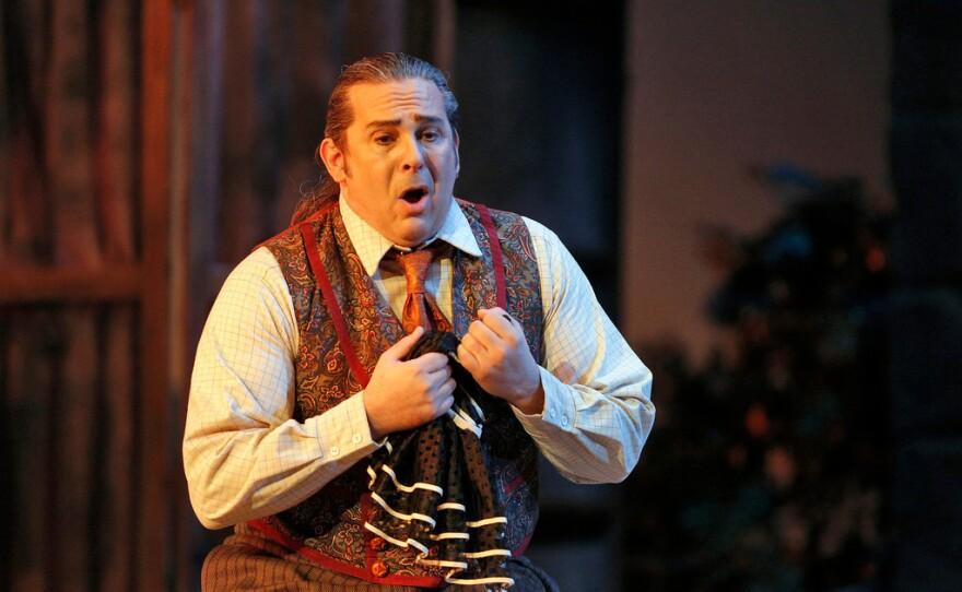 """Tenor Frank Porretta as Canio in """"Pagliacci."""""""