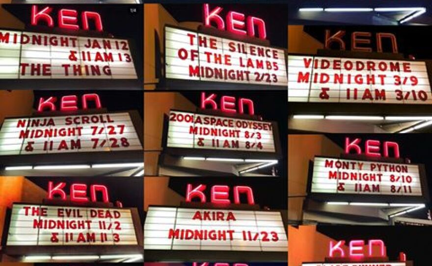 Ken regular Jacob Denton shared a photo of his Midnight Movies at the Ken marquees.