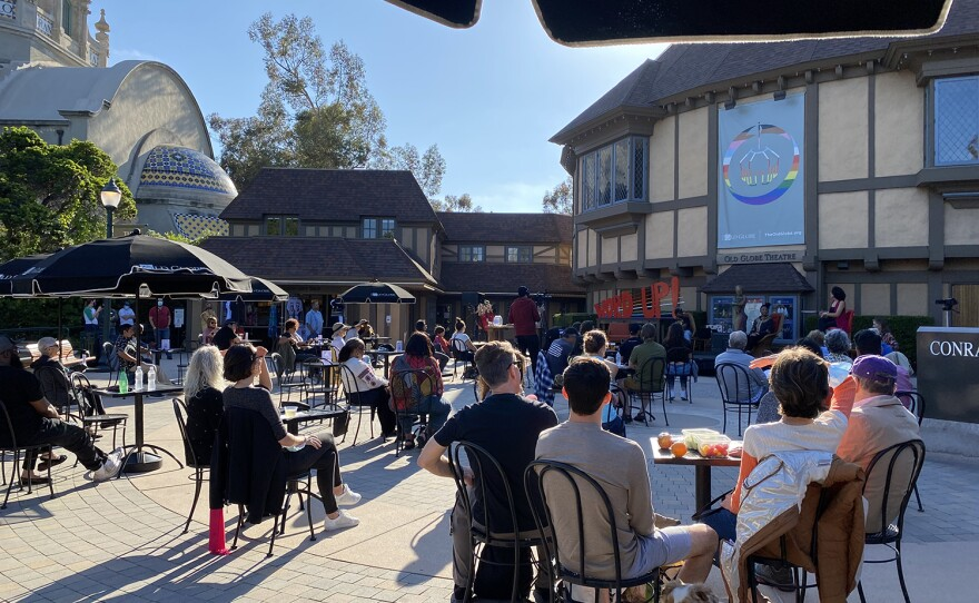 Word Up, a free, outdoor performance and discussion on June 4, 2021 was the first in-person event held at The Old Globe since the pandemic began.