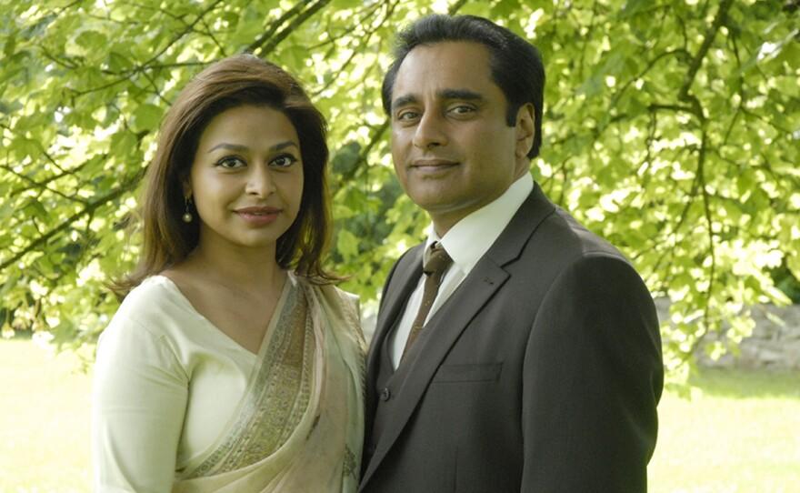 Kamini (Ayesha Dharker) and her husband Dr. Prem Sharma (Sanjeev Bhaskar) in a scene from THE INDIAN DOCTOR: Season 3.