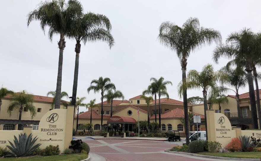 Pictured above is one of about 100 skilled nursing homes in San Diego County, March 31, 2020.