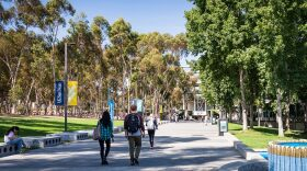Students walk at UC San Diego in this undated photo.