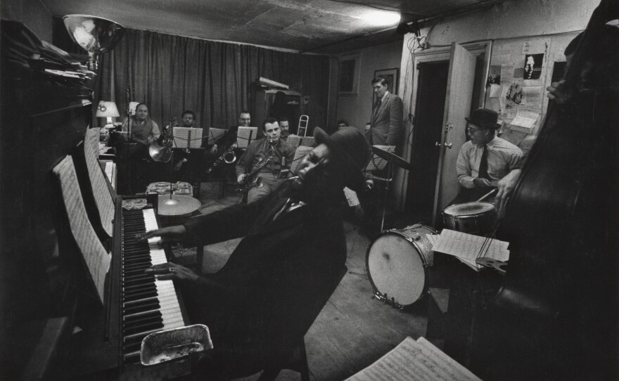 """W. Eugene Smith, """"Thelonious Monk and Town Hall Band in rehearsal,"""" c. 1957-1965. Collection of the W. Eugene Smith Archive, Center for Creative Photography, University of Arizona and The Heirs of W. Eugene Smith."""