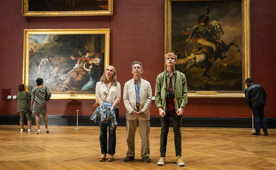 Saskia Reeves as Connie, Tom Hollander as Douglas and Tom Taylor as Albie in US On MASTERPIECE.