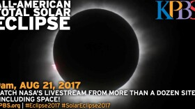 A total solar eclipse is shown in this undated image.