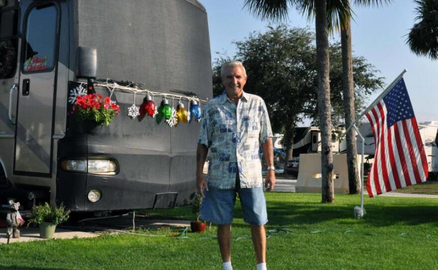 Rhode Island resident Tom Peters regularly vacations at the MacDill Air Force Base RV park in this undated photo.