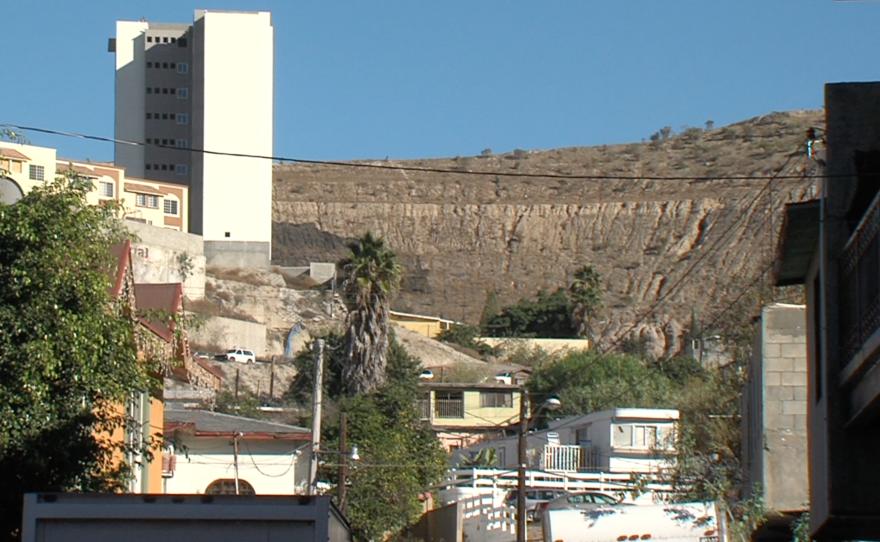 Steep hills surround the neighborhoods in Cañon de la Pedrera, a Tijuana canyon, Dec. 2, 2015.