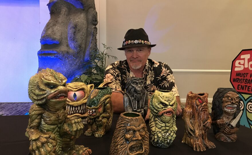 Artist Jim Moore will be selling his Moore Monsters through Sunday at Tiki Oasis' Marketplace.