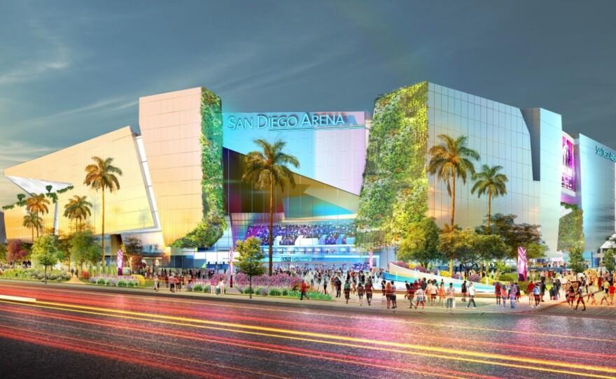 An undated artist rendering of San Diego Arena.