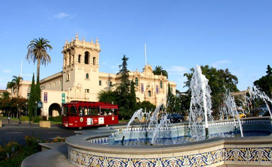 The North Fountain in Balboa Park's Plaza de Panama.
