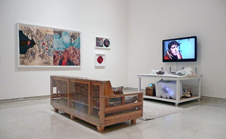 """The installation for """"Antarctic...Huh?"""" on view in 2010 at the Museum of Contemporary Art San Diego."""
