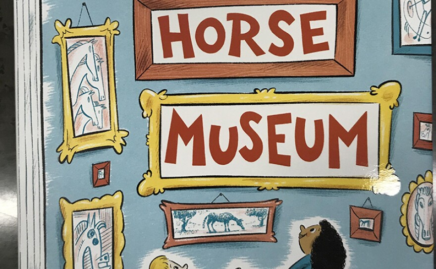 """The cover of Dr. Seuss' """"Horse Museum"""" is pictured, September 3, 2019."""