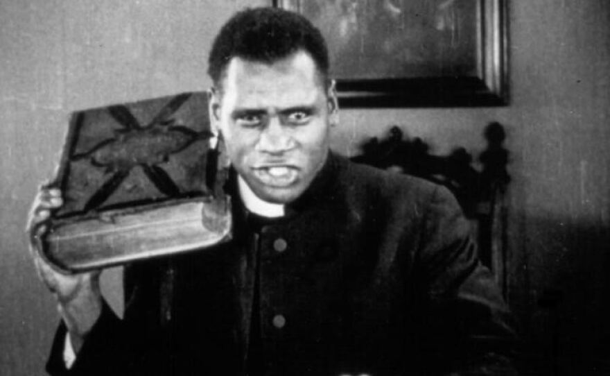 """A 27-year-old Paul Robeson made his film debut in Oscar Micheaux's 1925 silent film """"Body and Soul."""""""