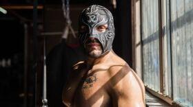 Luchador Romeo trains at X-Gym Thursday, August 26, 2021 in Tijuana, Baja Calif.