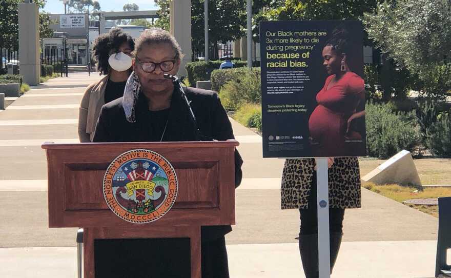 San Diego County public health officer Dr. Wilma Wooten speaks at the county's operation center, Jan. 28, 2021.