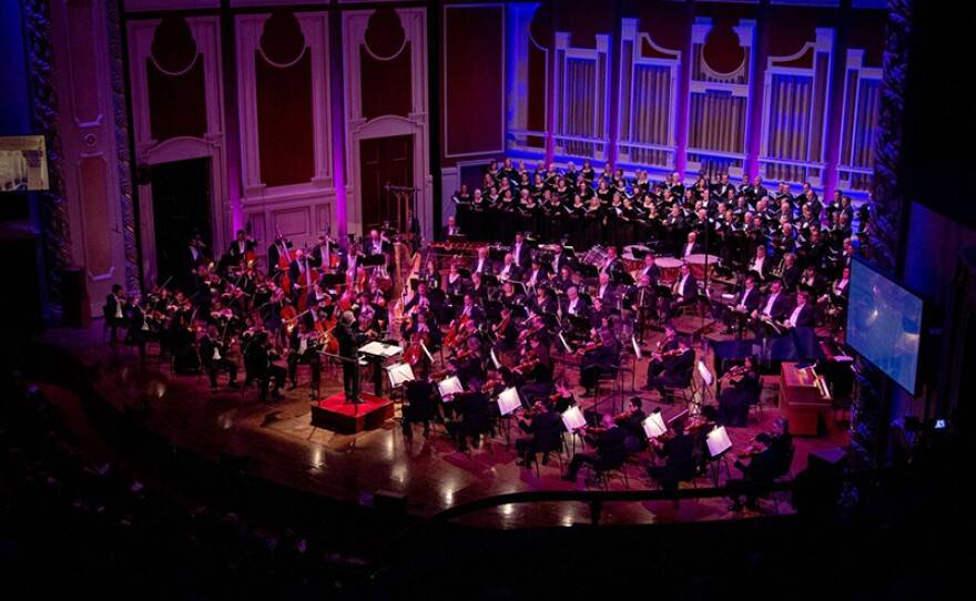"""The Pittsburgh Symphony Orchestra and the Mendelssohn Choir of Pittsburgh take the stage at Heinz Hall in Pittsburgh for """"Tree Of Life: A Concert For Peace And Unity,"""" which airs Tuesday, Dec. 11, 2018 on PBS stations nationwide."""