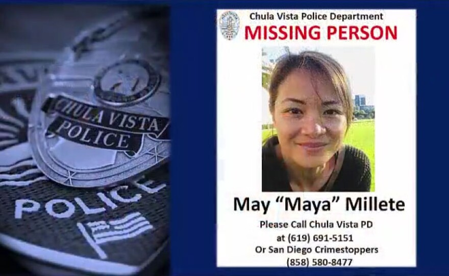 A missing poster of Maya Millete released by the Chula Vista Police Department, Feb. 5, 2021.