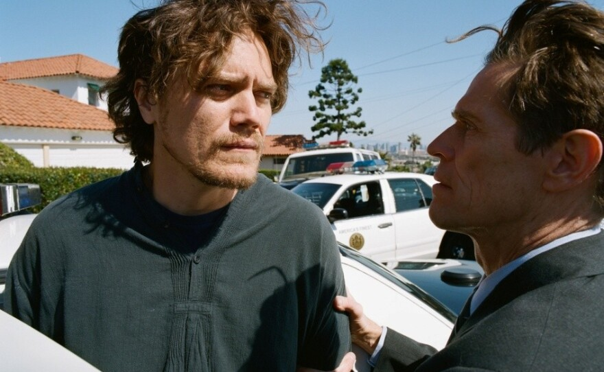 """Michael Shannon and Willem Dafoe as suspect and cop in """"My Son, My Son, What Have Ye Done"""""""