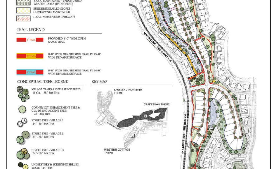 """Part of the plan for """"The Villages,"""" a housing development proposed by New Urban West for the former Escondido Country Club golf course. Nov 2017"""