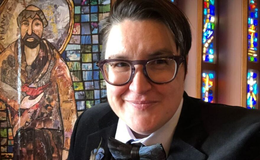 The Rev. Megan Rohrer became the first openly transgender bishop to be elected in the Evangelical Lutheran Church in America on Saturday.