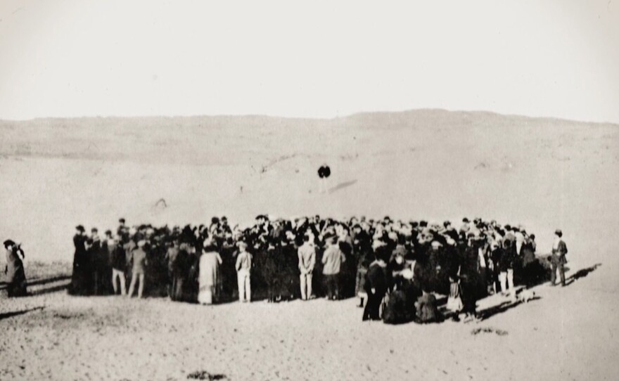 """The question of point of view is raised in the documentary """"1913: Seeds of Conflict"""" when this image is analyzed by an Ottoman historian to reveal that if the photographer had turned around, the backdrop would have been considerably different."""