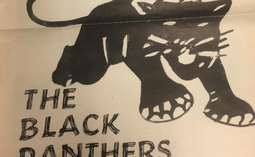 The iconic symbol of the Black Panther Party featured in a news article about the group, December 1968.