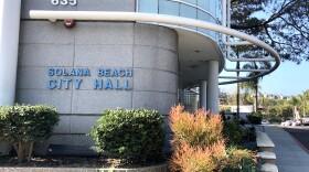 Outside of Solana Beach City Hall near Highway 101, Feb. 6, 2018.