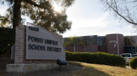 The Poway Unified School District building is shown on Feb. 3, 2021.