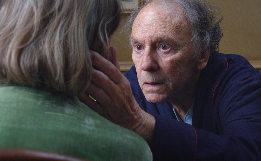 """Jean-Louis Trintignant plays a man who has to cope with his wife's deteriorating health in """"Amour."""""""
