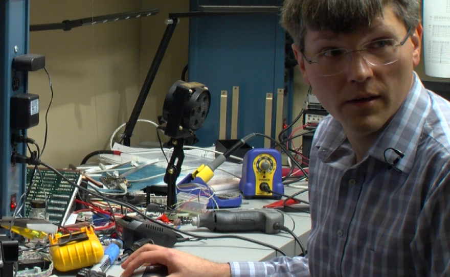 Computer scientist Kirill Levchenko is seen in a lab at UC San Diego, May 25, 2017.