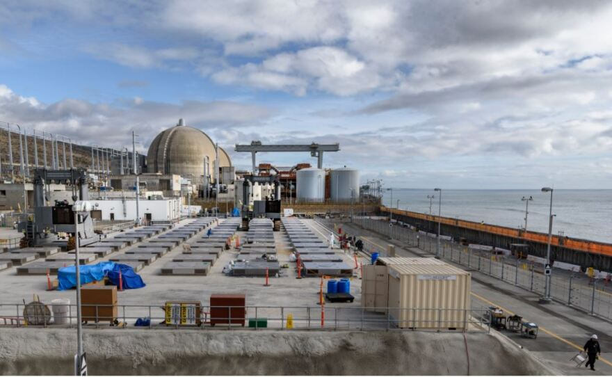 The site of spent nuclear fuel storage at the San Onofre nuclear power plant is shown in this photo, January 2018.