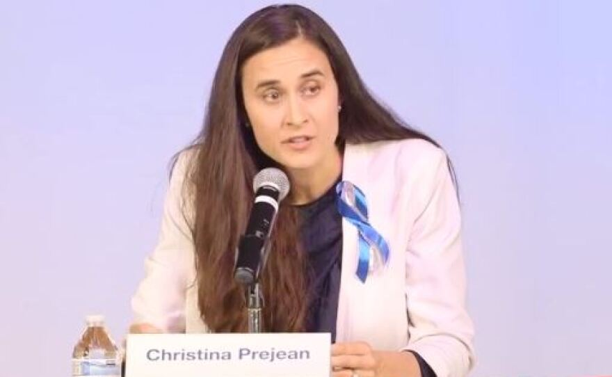 Christina PreJean, said she will drop out of the race for the 49th Congressional District, March 2, 2018.