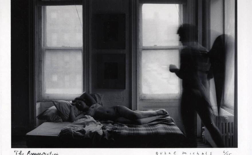 """""""The Annunciation"""" by seminal photographer, Duane Michals."""
