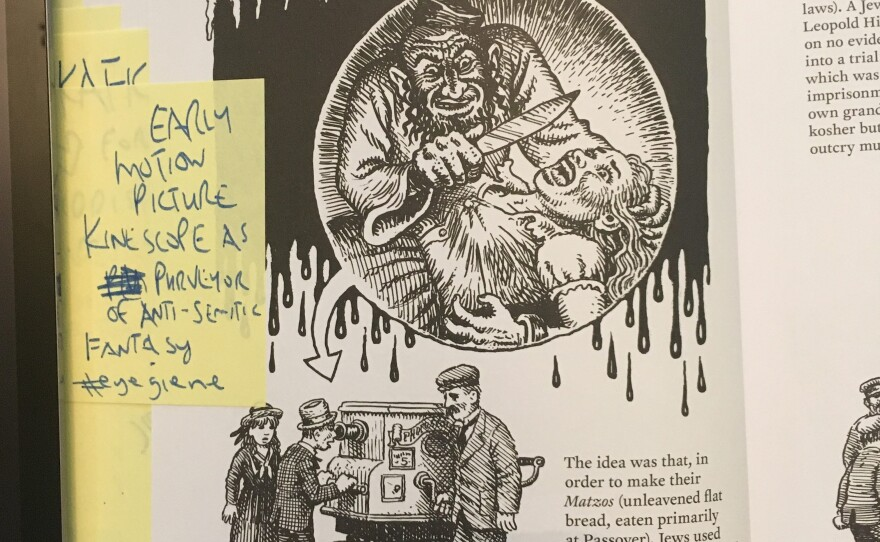 """An excerpt from the book """"Kafka"""" is shown in this undated photo. SDSU professor William Nericcio has students dissect images like this one, which asks them to consider how images they see can lead to racism."""