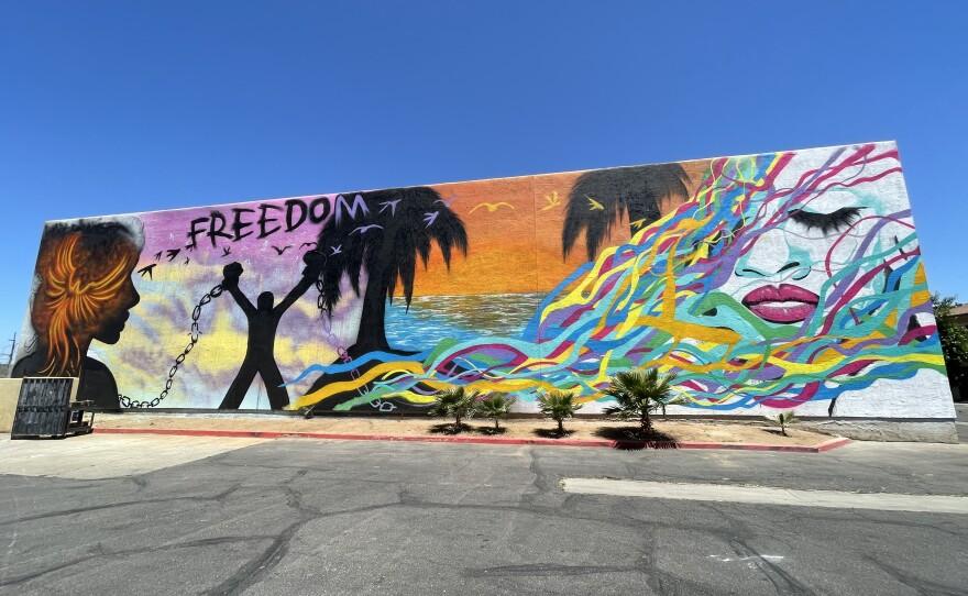Symbolic mural at Interfaith's recuperative center in Escondido. June 10, 2021.