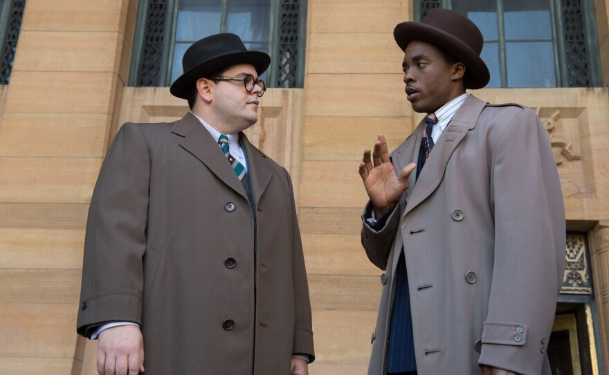 """Sam Friedman (Josh Gad) and Thurgood Marshall (Chadwick Boseman) are young activist lawyers in the new film """"Marshall."""""""